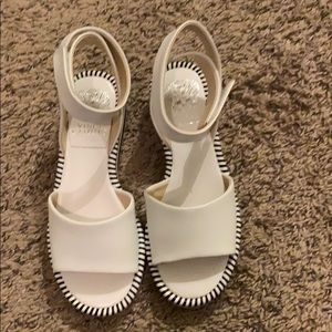 White Vince camuto sandals